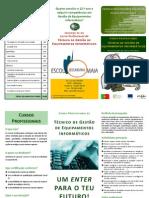 ESMAIA - Panfleto Curso Profissional Gestao Equipamentos Informaticos 2011