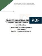 Referat Master - Marketing Electoral