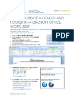 How to Make Headers and Footers in Word (Win)