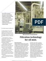 Filtration Technology for Oil Mist (Clean Air America, Inc.)