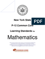 NYS Common Core Math Standards