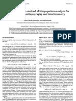 Takeda - Fourier-Transform Method of Fringe-pattern Analysis