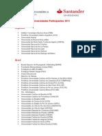 Universidades Participantes Becas Iberoamérica Grado