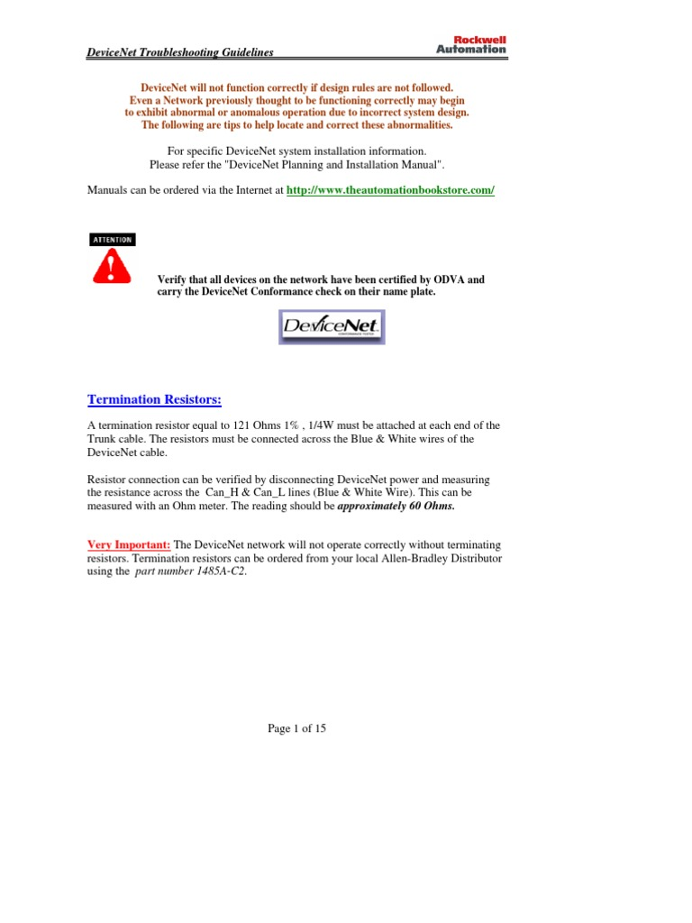 devicenet troubleshooting guidelines power supply electrical rh scribd com plc Wiring Basics plc Wiring Basics