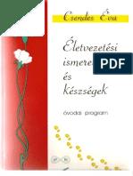 Csendes Éva_Életvezetési ismeretek és készségek_Óvodai program, 1997