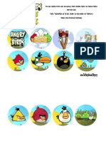 Angry Birds Cupcakes Toppers