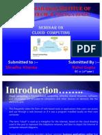 Cloud Computin g Seminar