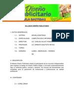 SILLABUS DISEÑO PUBLICITARIO