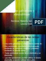 Celdas galvanicas y electrolíticas
