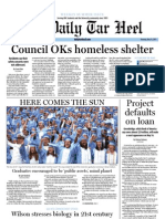 The Daily Tar Heel for May 12, 2011