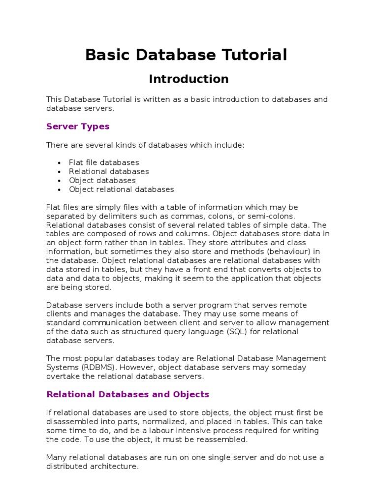 Database tutorial relational database databases baditri Image collections
