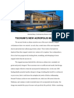 Tschumi's New Acropolis Museum