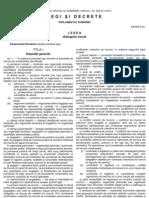 Legea 62 din 10.05.2011 - Legea dialogului social