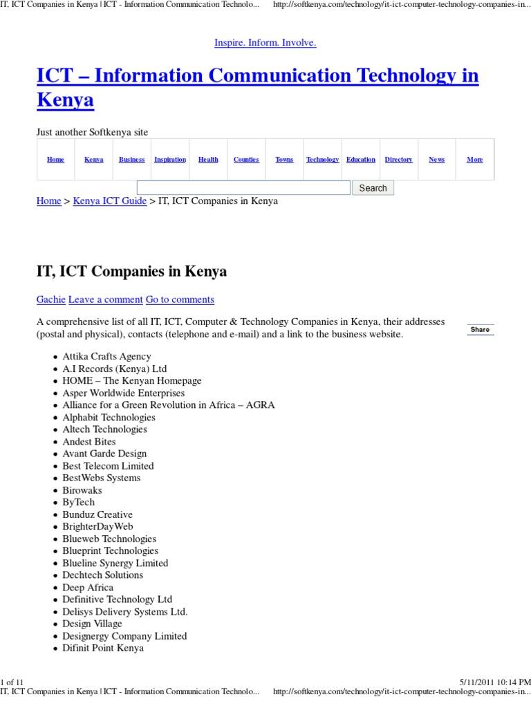 It ict companies in kenya ict information communication it ict companies in kenya ict information communication technology in kenya malvernweather Images