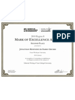 Society of Professional Journalist Mark of Excellence Award