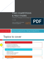 Case Competitions and Field Studies