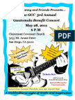 3rd Annual Guatemala Benefit Concert