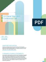 Cisco Q3FY11 Earnings Slides