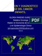PREVENCION Y DIAGNOSTICO PRECOZ DEL CANCER INFANTIL