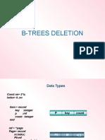 b Trees Deletio