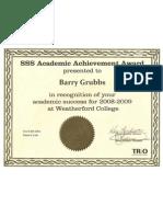 SSS Achievement Award
