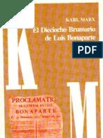 Karl Marx - Dieciocho de Brumario de Luis Bonaparte 2