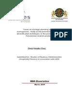 Oniel Valdes Dissertation, March 5th 2009