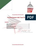Formula Student ASU Team 2011 Proposal
