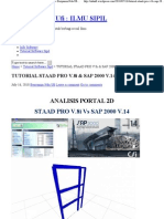 TUTORIAL STAAD PRO V.8i & SAP 2000 V.14 « Benyamin Ndu Ufi _ ILMU SIPIL