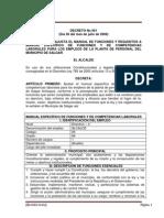 Decreto No 061 de 2008 Manual de Funciones