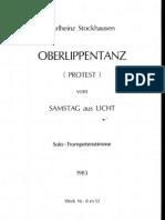en Karlheinz - Oberlippentanz (Protest) Fur Solo-Trompet