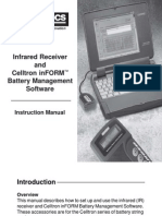 Instruction Manual, Infrared Receiver and InFORM Software