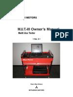 Mitsubishi MUTIII Manual