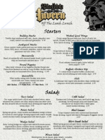 Blackies Lunch Menu