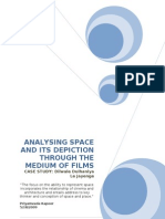 ANALYSING SPACE AND ITS DEPICTION THROUGH THE MEDIUM OF FILMS