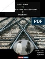 CONFERENCE ON PUBLIC PRIVATE PARTNERSHIP IN RAILWAYS