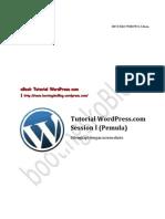 Tutorial WordPress.com Session I (Pemula)