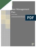 Deer Management Plan 1105a