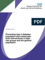 Prevencion en Diabetes - NICE