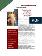 El Trabajo de Dios Canonizacion Santa Sor Faustina