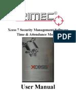 TRIMEC Xcess 7 T&a Module User Manual V1.0.2