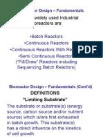 Bio Reactor Design Fundamentals
