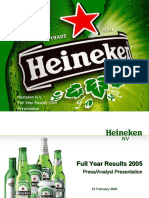 Heineken N.v. Full Year Results 2005 Presentation