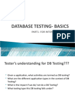DB Testing Basics
