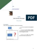 Web Identity Manager