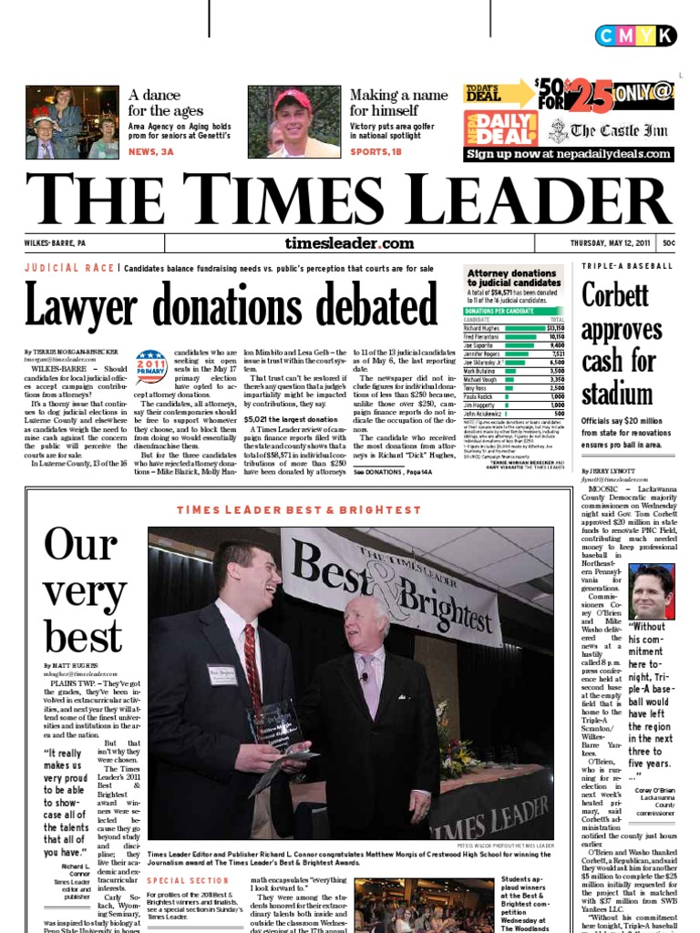 Times Leader 05 12 2011 Wilkes Barre International Politics Palomino Xaveri Totebag Grey