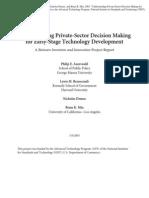 Auerswald Et Al 2003 Private Sector Decision Making Early Tech Development