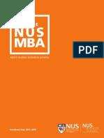 NUS MBA Aug 2011 Brochure