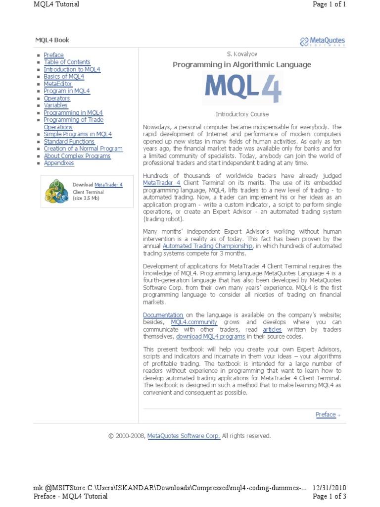 Mql4 ima