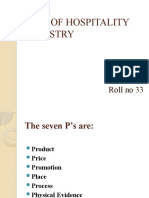 7 P'S OF HOSPITALITY INDUSTRY by jithin george 9947958717